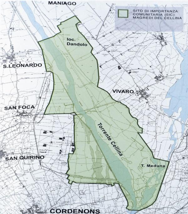 Area SIC e ZPS (zona di Protezione Speciale) nei magredi di Dandolo-Vivaro
